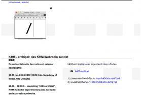 Screenshot KHM website